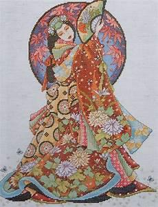Joan Elliott Cross Stitch Charts Joan Elliott Geisha Oriental Lady Wisdom Asian Counted