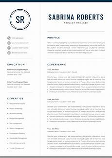 Professional Resume Word Template Professional Resume Template Modern Manager Executive