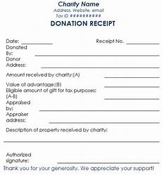 charitable donation receipt template word 5 charitable donation receipt templates free sle