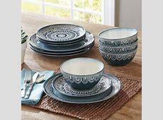 Better Homes & Gardens Teal Medallion 12 Piece Dinnerware