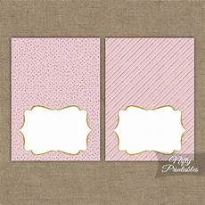 Pink Place Cards Pink Gold Solid Blank Place Cards Or Tent Cards Nifty