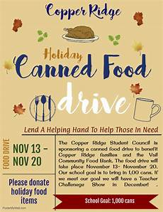 Can Food Drive Flyer Canned Food Drive Flyer Jpg Copper Ridge Elementary