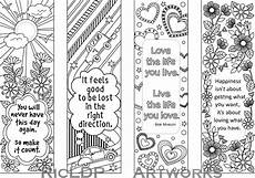 Malvorlagen Lesezeichen Kostenlos Set Of 4 Coloring Bookmarks With Quotes Bookmark