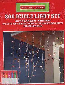 Extra Long Icicle Christmas Lights Holiday Home 300 Multi Color Icicle Lights White Wire