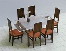 dining table and 6 chairs set 1 12 scale dollhouse
