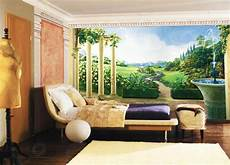 fresco and mural in vintage style romanticizing modern