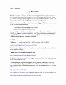 College Mla Format Mla Format Homeworknow Com