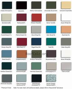 Roof Paint Colour Chart Metal Roof Colors How To Pick The Right Color For Your House