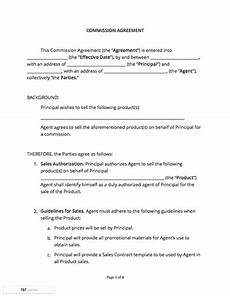 Commission Agreement Contract Templates And Agreements With Free Samples