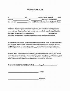Unsecured Promissory Note Template 45 Free Promissory Note Templates Amp Forms Word Amp Pdf
