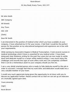 Cover Letter Medical Writer Medical Writer Cover Letter Example Learnist Org