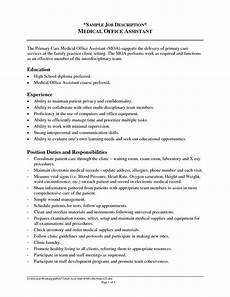 Resume Job Responsibilities Examples Certified Medical Assistant Cover Letter Resume