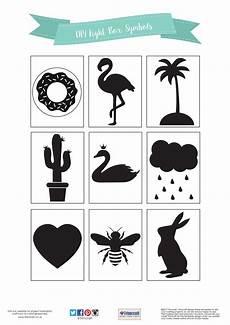 Indigo Light Up Letters Diy Lightbox Symbols Tutorial With Free Printable Template