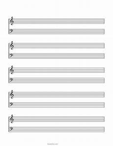Piano Staff Paper Blank Sheet Music Paper Grand Staff