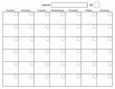 Monthly Calendar Printable Free Printable Blank Monthly Calendar Activity Shelter