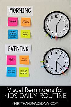 Make Your Own School Schedule Visual Reminders For Kids Daily Routines Kids Schedule