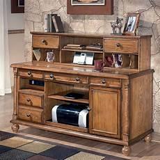 desk credenza holfield leg desk home office set w credenza signature