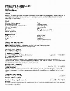 Ma Resumes Examples Castellanos Guadalupe Ma Resume