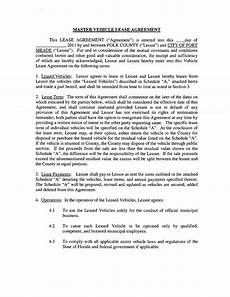Auto Lease Agreement Master Vehicle Lease Agreement Templates At