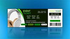 Design Event Tickets Online How To Create Event Ticket Design Tutorial In Photoshop