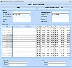Expense Manager Excel Template Excel Expense Report Template Software 7 0 Full Screenshot
