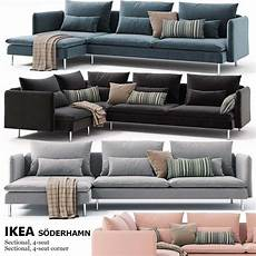 Cover For Sectional Sofa 3d Image by Corner Sofas Ikea Soderhamn 3d Model For Cgsouq