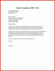 How To Accept An Offer Letter New Letter To Accept Job Offer Sample Lettering Letter