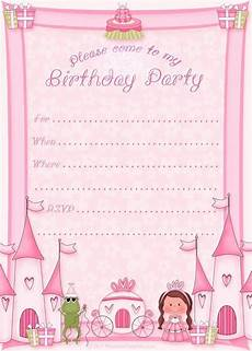 Make Printable Invitations Online Free Free Printable Princess Birthday Party Invitations
