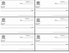 Pretend Cheque Pretend Checks By Elementary To Middle Teachers Pay Teachers