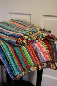 blanket multicolored chunky knit warm soft merino