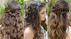 hair styles 3 easy boho prom hairstyles half up hairstyles
