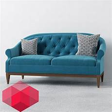 Sofa Decor Pillows 3d Image by Sofa With Two Pillows Free 3d Models