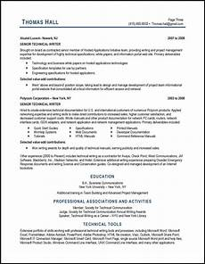 Tips For Resume Writing Technical Writer Resume Example Distinctive Career Services