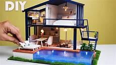 diy miniature modern apartment with pool lightake