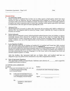 Commission Agreement Commission Agreement Free Download