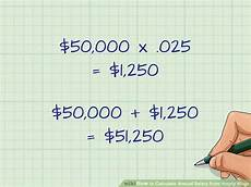 Yearly Salary To Hourly Chart 3 Ways To Calculate Annual Salary From Hourly Wage Wikihow