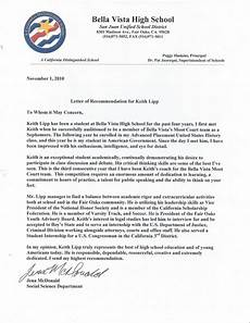 Recommendation Letter From Teacher Ap U S History Teacher Letter Of Recommendation