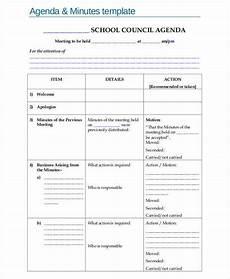 Minutes Agenda Template 6 Agenda Minutes Templates Free Samples Examples