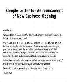 Business Announcement Templates Free 5 Sample New Business Letter Templates In Ms Word Pdf