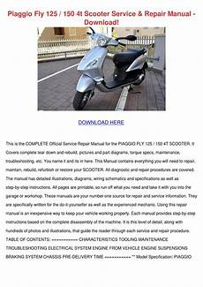 Piaggio Fly 125 150 4t Scooter Service Repair By