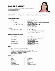 Sample Resume For Resume 1