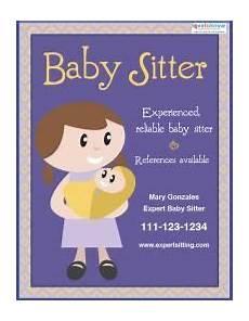 Babysitting Pamphlets Free Babysitting Flyer Templates And Ideas Babysitting