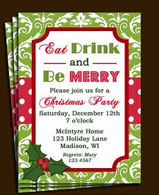 Office Christmas Party Invites Christmas Party Invitation Printable Or Printed With Free