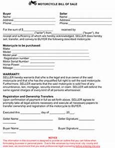 Bike Selling Agreement Format Free Printable Motorcycle Bill Of Sale Form Generic