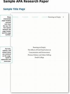 Apa Research Paper Layout 4 Research Paper Example Free Download