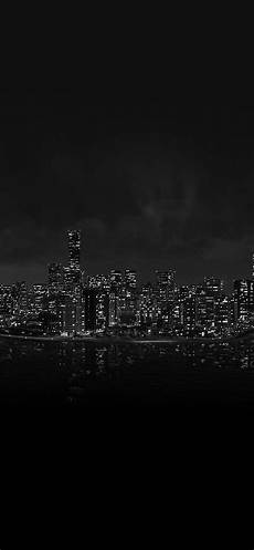 iphone wallpaper black and white city watchdog city light view from sea iphone x