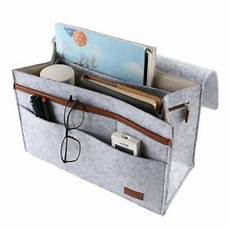 bed organizer storage caddy pocket felt bedside phone book