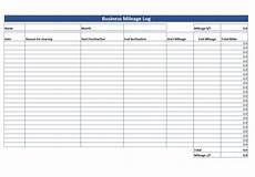 Mileage And Expense Log Simple Mileage Log Free Mileage Log Template Download