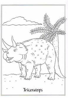 ausmalbild dinosaurier 2 triceratops clipart posters