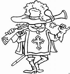 musketier mit muskete ausmalbild malvorlage phantasie